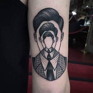 Optische Täuschung Tattoo : fantastische optische t uschung schwarzes mannes portr t tattoo am arm ~ Buech-reservation.com Haus und Dekorationen