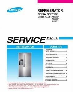 Samsung Rsg307aars Rsg309aars Refrigerator Service Manual