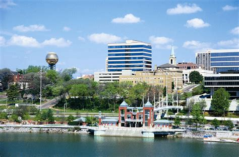 Knoxville skyline from Tennessee River | University of ...