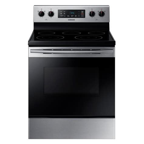 electric range samsung smooth stainless steel ft cu freestanding ranges elements cleaning self stove power inch stoves oven burners dual