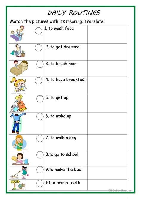 simple present tense daily routines exercises worksheet