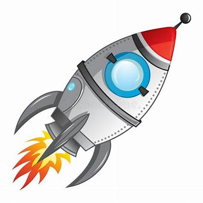 Clipart Rocket Launch Spaceship Missile Cartoon Space