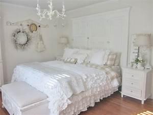 Schlafzimmer Ideen Weiß : 55 schlafzimmer ideen gestaltung im shabby chic look ~ Michelbontemps.com Haus und Dekorationen