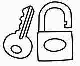 Lock Key Drawing Coloring Pages Template Children Getdrawings Little Clipartmag sketch template