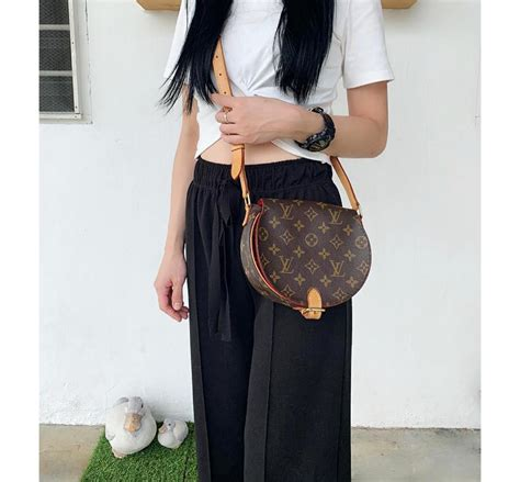authentic louis vuitton monogram tambourine shoulder bag luxury bags wallets sling bags