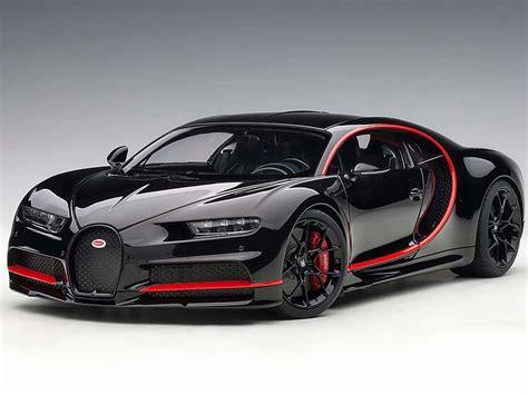 Bugatti All Black by Autoart 70991 2017 Bugatti Chiron 1 18 Nocturne Black With