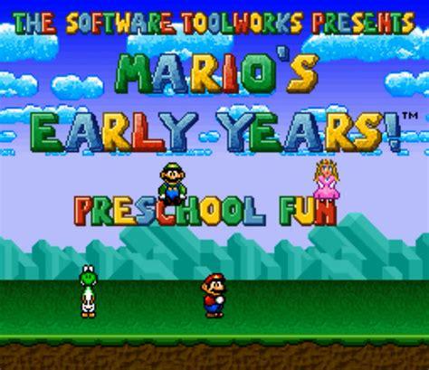 mario s early years preschool supersoluce 715   mario s early years preschool fun super famicom 001