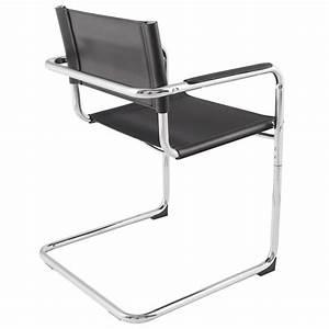Chaise Design Metal : chaise de bureau design tahiti noir ~ Teatrodelosmanantiales.com Idées de Décoration