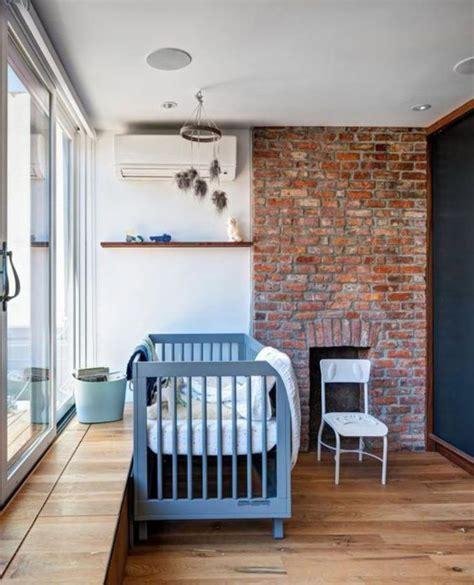 chambre à coucher bébé déco chambre effet brique