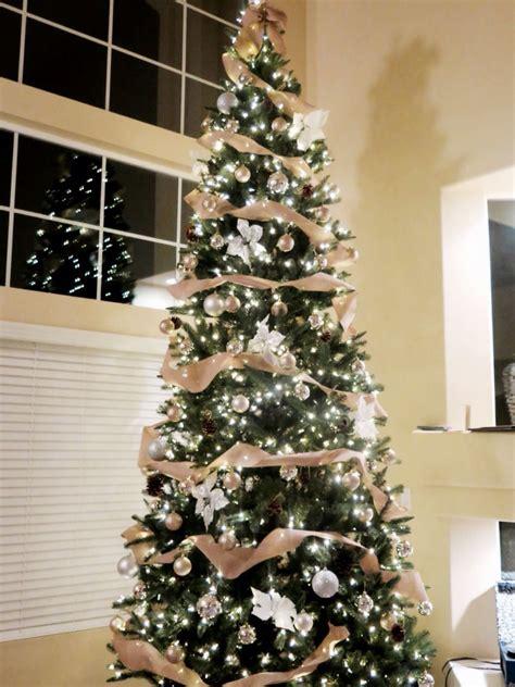 ft rustic glam christmas tree  spool burlap ribbon