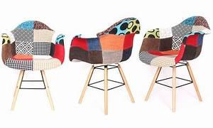Tabouret De Bar Patchwork : lot de 2 fauteuils patchwork vacuit groupon ~ Melissatoandfro.com Idées de Décoration
