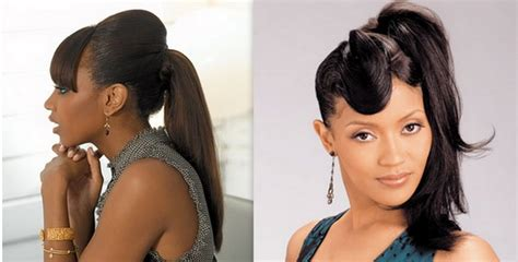 Ponytail Hairstyles For Black Women Good Hot Rollers For Black Hair Hairstyles Curly Shoulder Length To Have When Growing Your Cute Hairstyle Wet How Get African American Make A Low Bun With Thick Red Dye On Natural Maintain Straw Curls