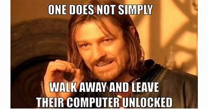 Computer Meme Lock Boromir Unlocked Memes Screen