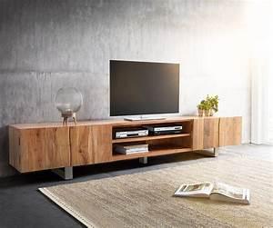Design Tv Lowboard : lowboard live edge 300 cm akazie natur 4 t ren 2 f cher m bel tische fernsehtische ~ Frokenaadalensverden.com Haus und Dekorationen