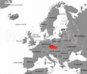 Where is Prague city? What country is Prague on map ...