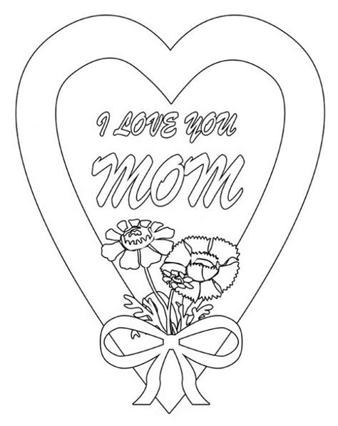love  mom  hearts  roses coloring page color luna