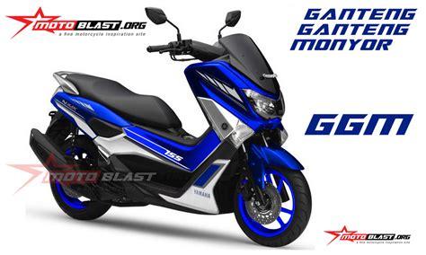 Nmax 2018 Gp by Modif Striping Yamaha Nmax Blue Gp Version