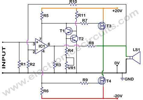 Mosfet Power Amplifier Circuit Diagram World
