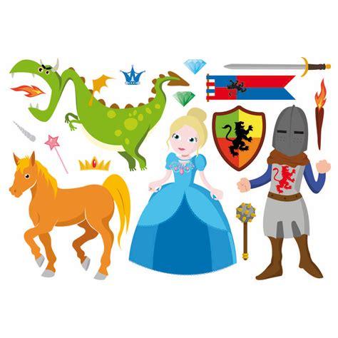 chambre chevalier stickers princesses et chevaliers wiplii jouets en