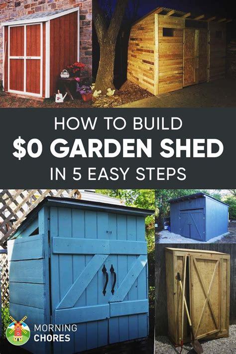 build  practically  garden storage shed