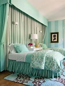 1001 designs stupefiants pour une chambre turquoise With tapis chambre bébé avec bouquet de fleur fiancaille