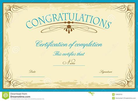 free printable certificate templates certificate certificate template