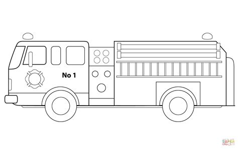 fire engine coloring page  printable coloring pages