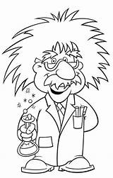 Science Mad Coloring Pages Einstein Albert Cartoon Scientist Printable Sheets Preschool Clip Week Wore Glasses Scientists Drawing Ciencia Visitar Clipart sketch template