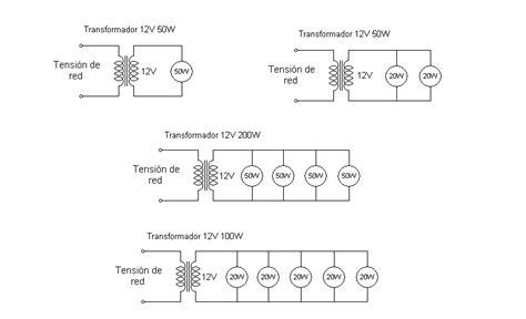 solucionado como conectar dos focos de halogeno en un transformador electricidad