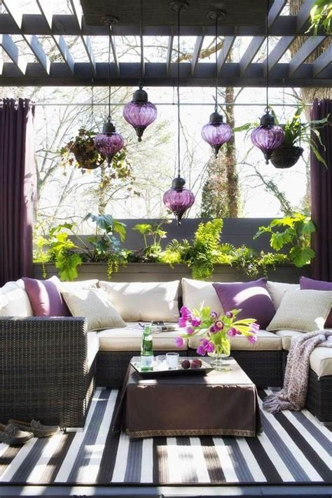 purple lawn picture of moroccan purple hanging lanterns for a patio