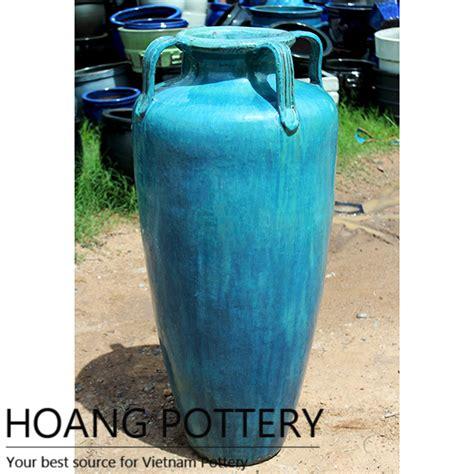 glazed ceramic planters big aqua green glazed ceramic pots hptv052 hoang pottery