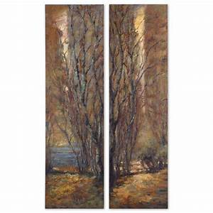 tree panels canvas wall art set of 2 With kitchen cabinets lowes with set of 2 canvas wall art