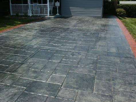 Stamped Concrete Green Release Color   AllstateLogHomes.com