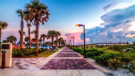Beach In Jacksonville, Florida 4k Ultra Hd Wallpaper