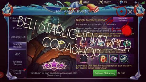 Beli Starlight Member Di Codashop Aman Broo