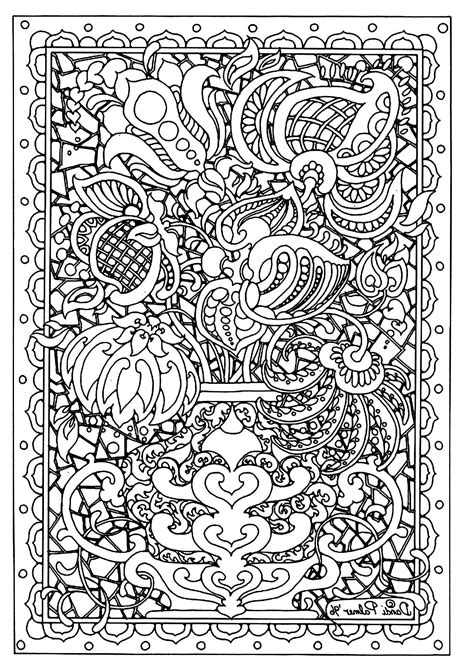 Free Coloring Page «coloringadultflowerdifficult