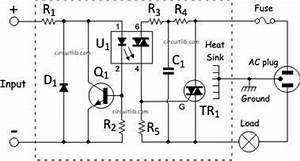 solid state relay With optoisolator as solid staterelay circuit schematic diagram