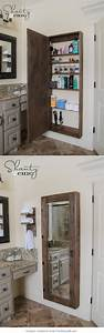 diy mirrored medicine cabinet tutorial along with With full length mirrored bathroom cabinet