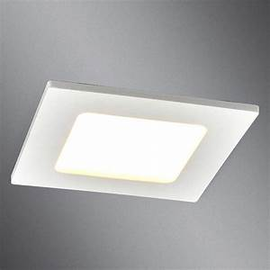 plafonnier encastrable led feva downlight carre blanc led With carrelage adhesif salle de bain avec spot encastrable led ip44