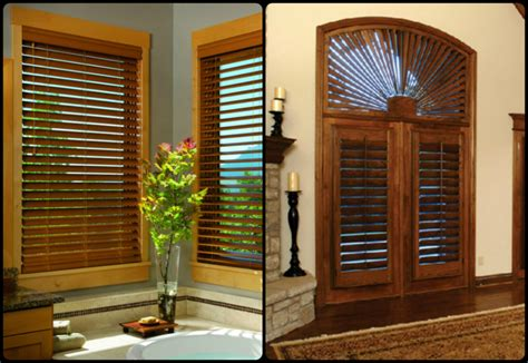 Custom Blinds And Shutters by Mixing Faux Wood Blinds And Plantation Shutters Kirtz