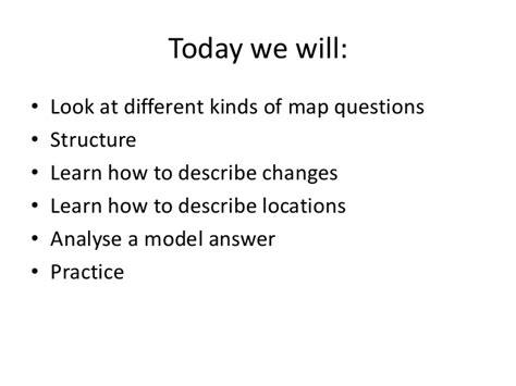Ielts Task 1 Describing Maps