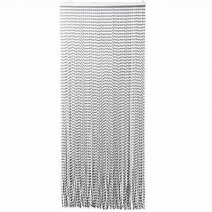 Rideau Gris Et Blanc : rideau de porte 90 x h210 cm torsades gris et blanc rideau de porte eminza ~ Teatrodelosmanantiales.com Idées de Décoration