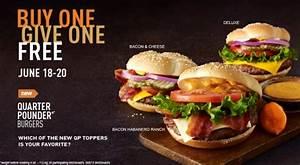 News: McDonald's - BOGO Quarter Pounders June 18 - 20 ...