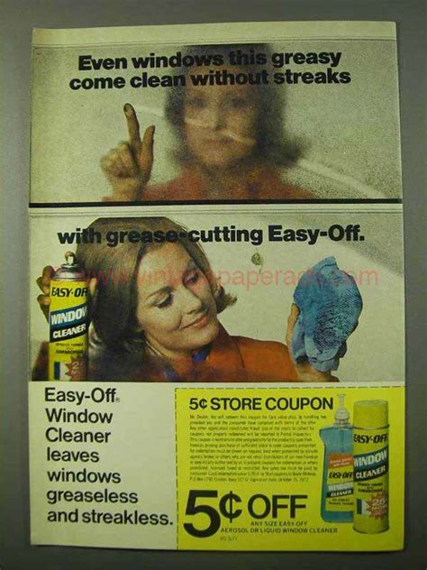 Easy  Window Cleaner Ad Greasy  Clean