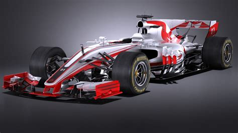 F1 Model Cars by 3d Model Formula 1 2017 Turbosquid 1163265