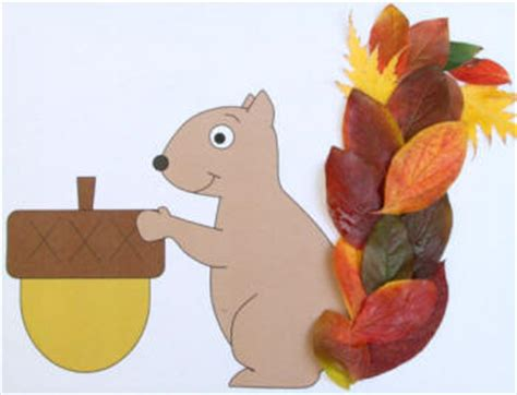 leaf squirrel paper craft 632 | leaf squirrel