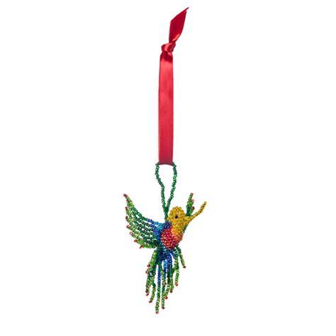 hand beaded fair trade christmas ornament hummingbird holiday decor handmade christmas