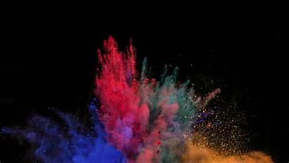 Powder Blast Explosion Background Laptop Tablet