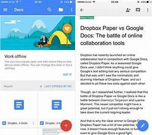 dropbox paper vs google docs which is better for online With google resume app