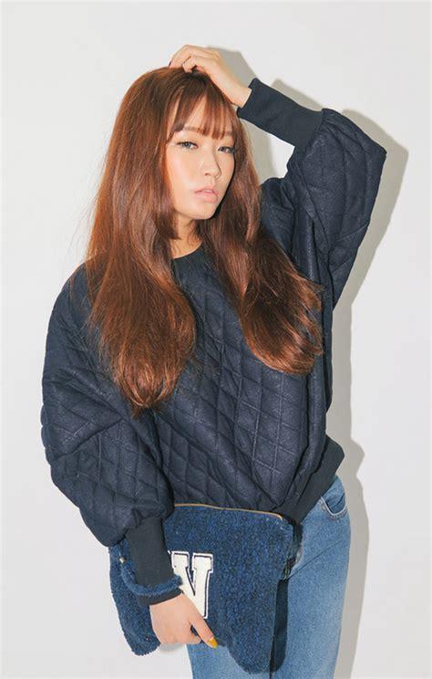 stylenanda diamond quilted sweatshirt kstylick
